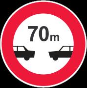 رعایت فاصله کمتر از ۷۰ متر ممنوع