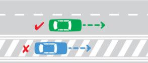 ممنوعیت حرکت روی خطوط هاشور (اضطرار) در حاشیه راهها