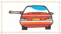 علامت راننده دست چپ