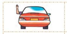 رانندهای که دست چپ را به طرف بالا نگه داشته
