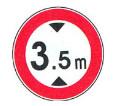 عبور با ارتفاع بیش از 3.5 ممنوع