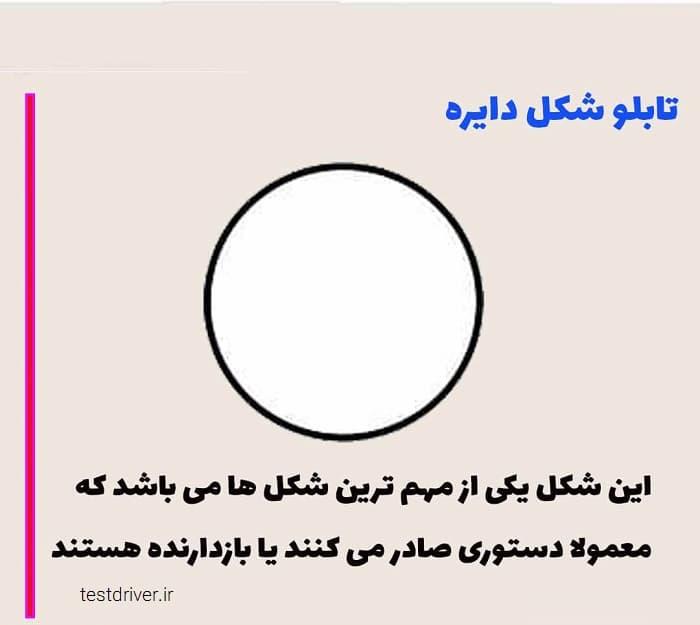 مفهوم شکل تابلو دایره